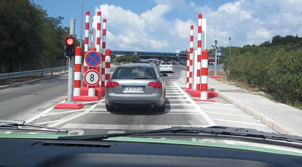zone entre la frontière du Montenegro et de la Croatie