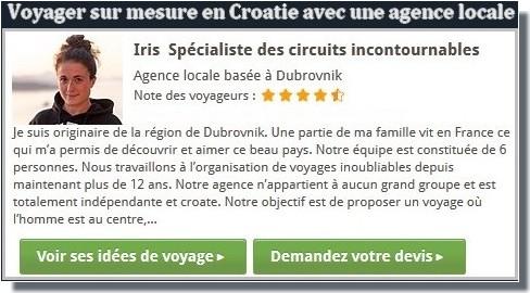 voyage sur mesure en Croatie avec l'agence locale d'Iris