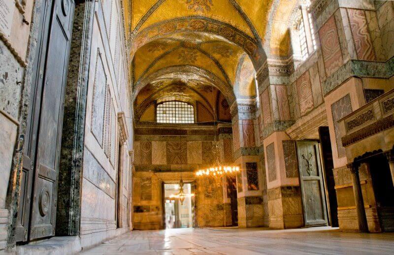Istanbul Saint Sophie intérieur de l'église