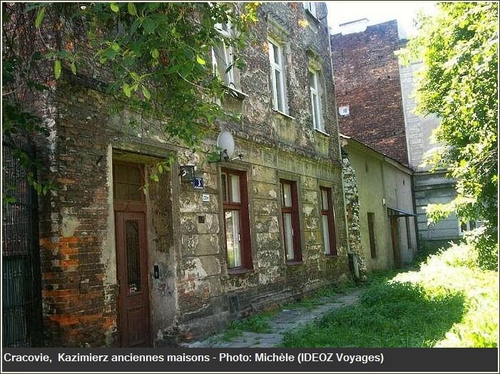Cracovie Kazimierz  vieilles maisons