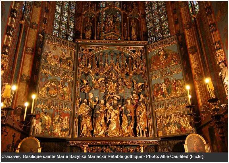 Cracovie basilique sainte Marie Rétable gothique