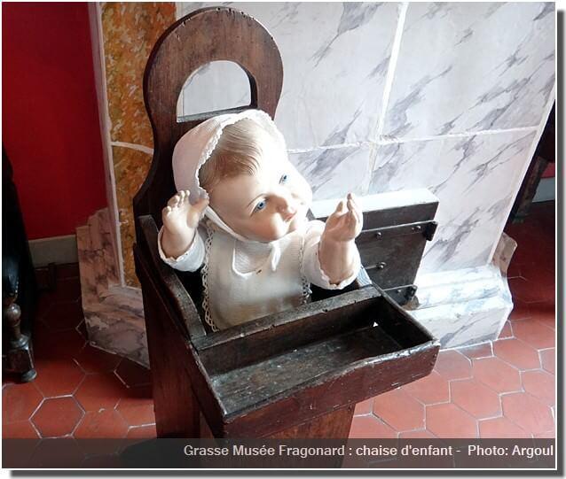 Grasse Musée Fragonard chambre pour bebe