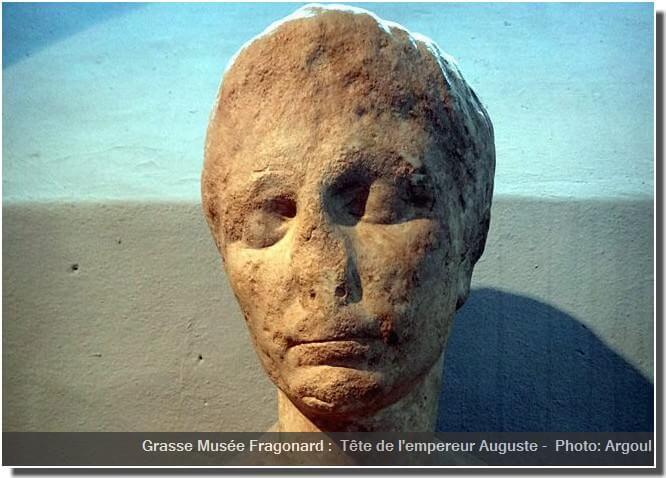 Grasse Musée Fragonard Empereur Auguste tête