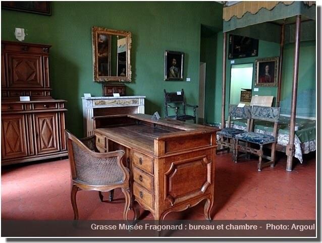 Grasse musée Fragonard chambre et bureau