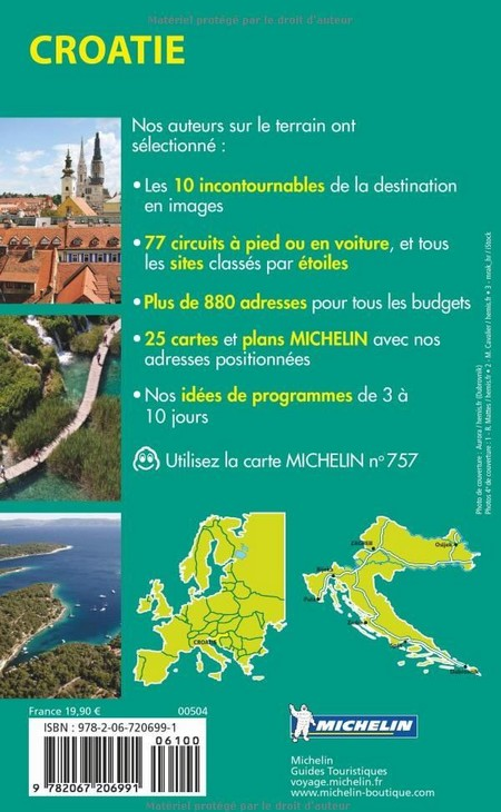 Guide Vert Michelin Croatie 4ème de couverture