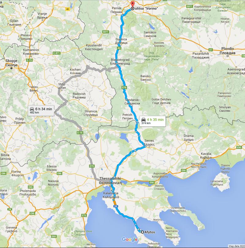 Itineraire jusqu'a Afitos