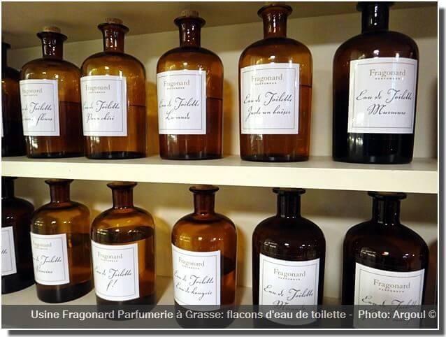 Parfumerie Fragonard à Grasse usine flacons eaux de toilette