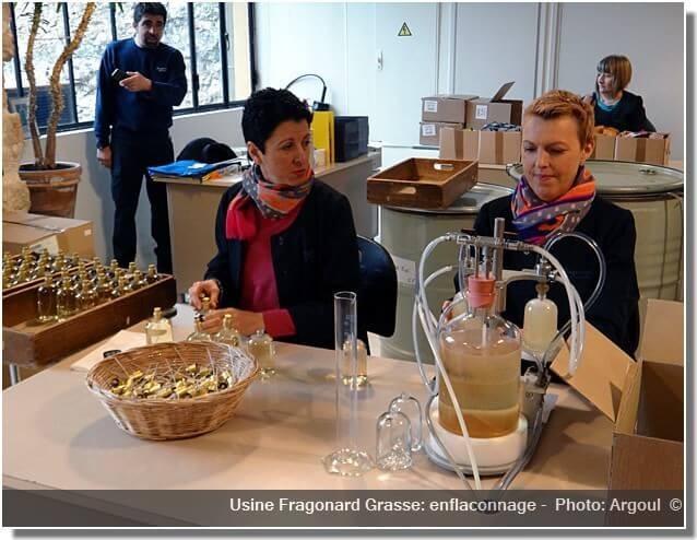 Parfumerie Fragonard Grasse usine enflaconnage