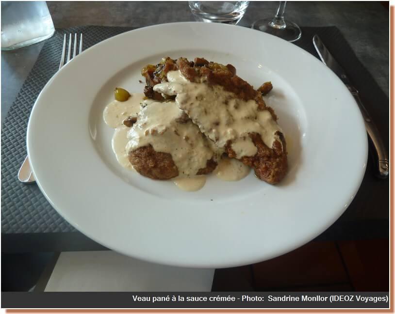 Restaurant Le four castelnaudary veau sauce crémée
