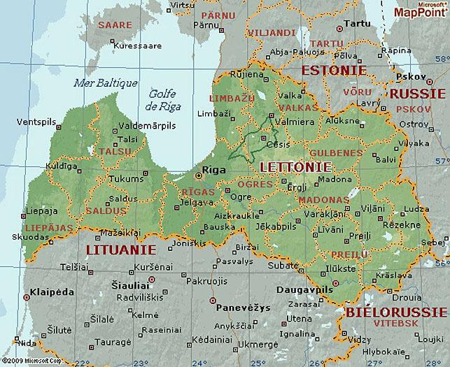 Carte Lettonie Latvia