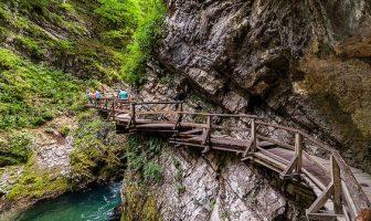 Gorges de Vintgar en Haute Carniole en Slovénie