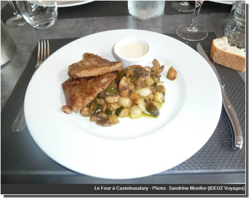 Le Four Castelnaudary Veau et petits legumes