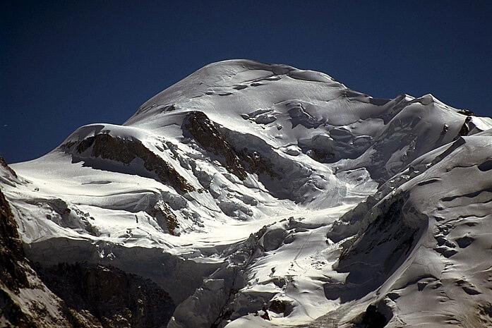 Mont Blanc vu depuis le refuge des grands mulets