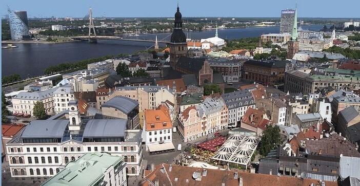 Riga panorama ville historique