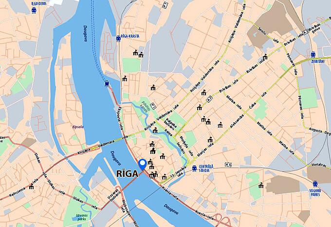 Riga plan du centre ville