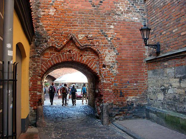 Riga porche rue ancienne