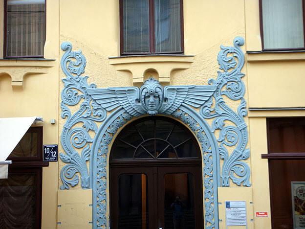 Riga porte Art Nouveau