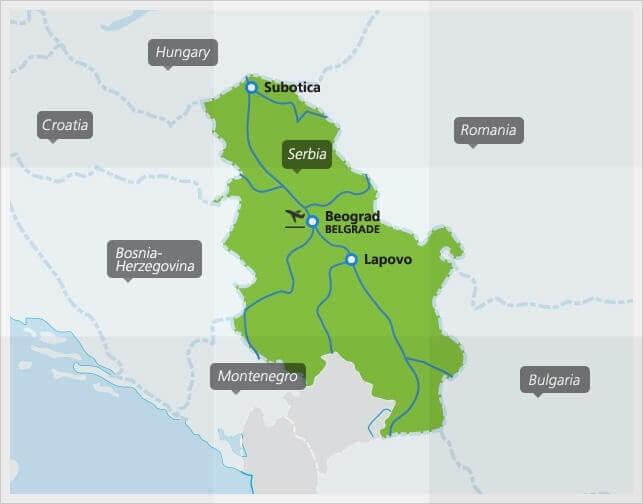 carte des trains en serbie