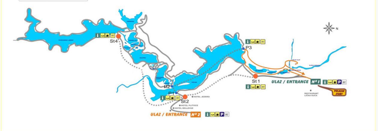 plan parc plitvice