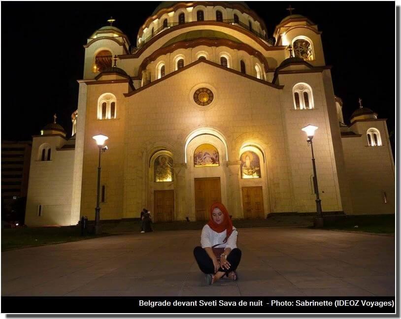 Belgrade temple saint sava de nuit