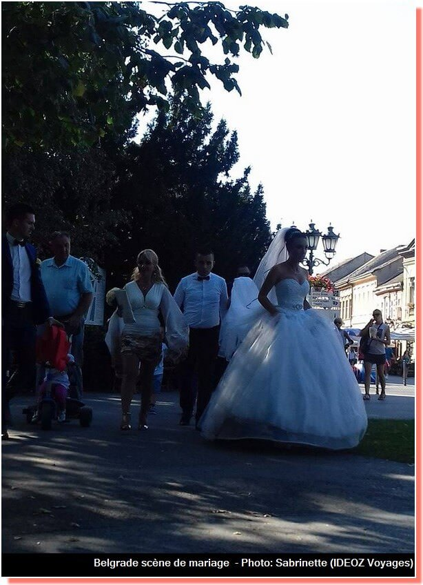 belgrade scène de mariage orthodoxe