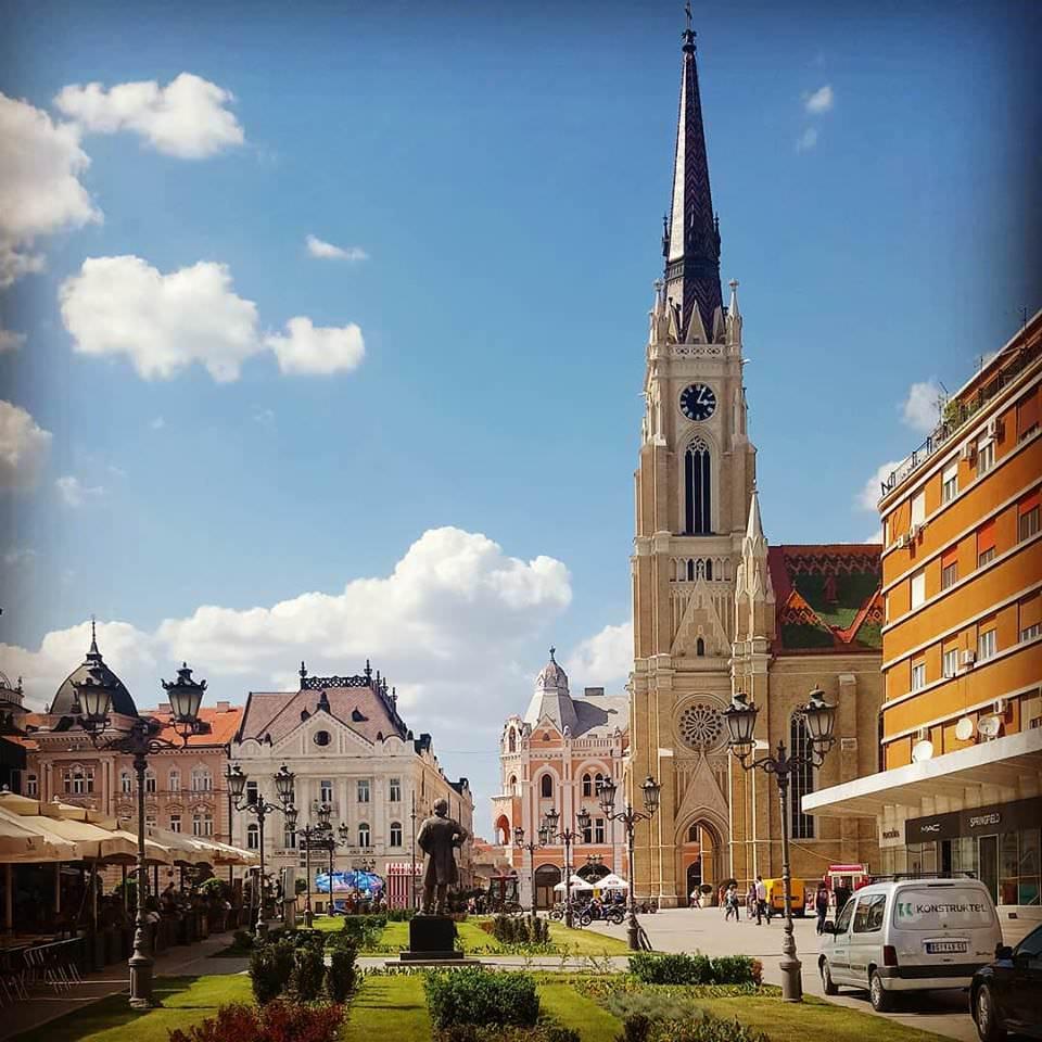 Centre ville de Novi Sad