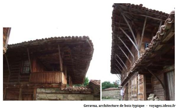 Geravna architecture typique des maisons de Bulgarie