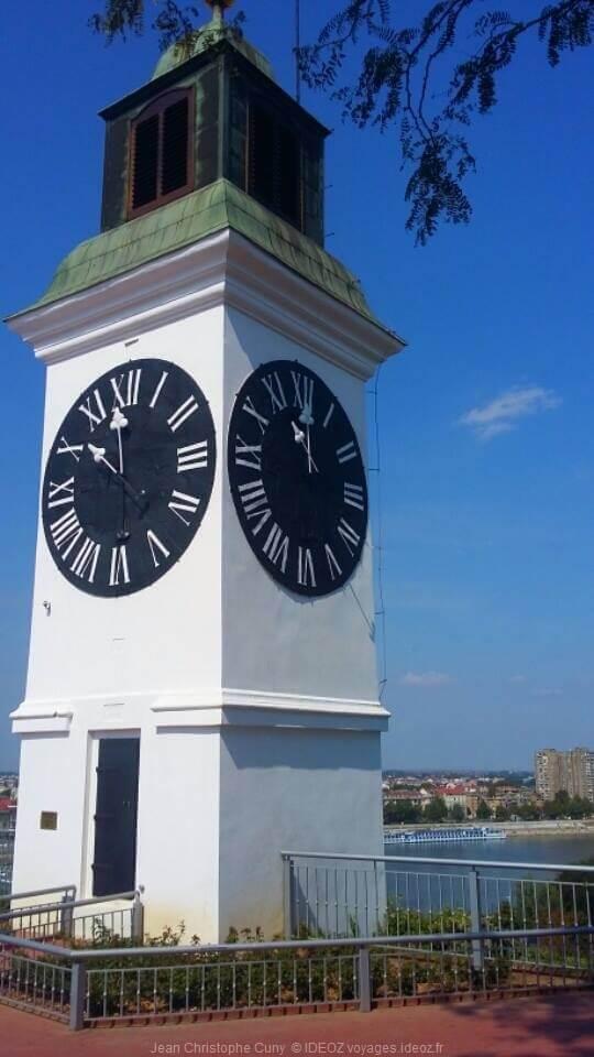 Horloge de la forteresse de Petrovaradin à Novi Sad