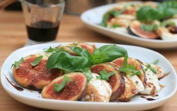insalata bavarese salade figue mozzarella balsamique