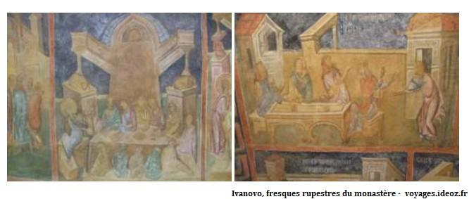 Ivanovo fresques rupestres dans le monastère