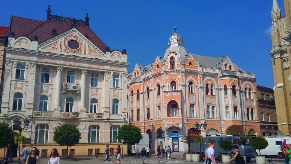 Novi sad bâtiments d'inspiration Art Nouveau