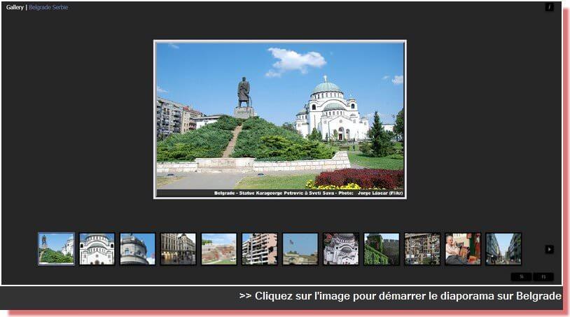 diaporama photos sur Belgrade