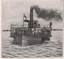 chiemsee bateau vapeur en 1887