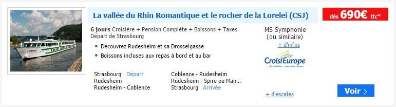 Croisière rhin romantique lorelei