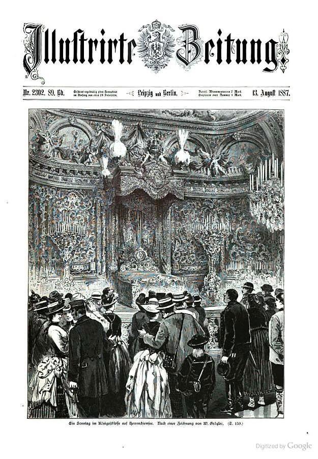 ein sonntag Herrenchiemsee 13 aout 1887