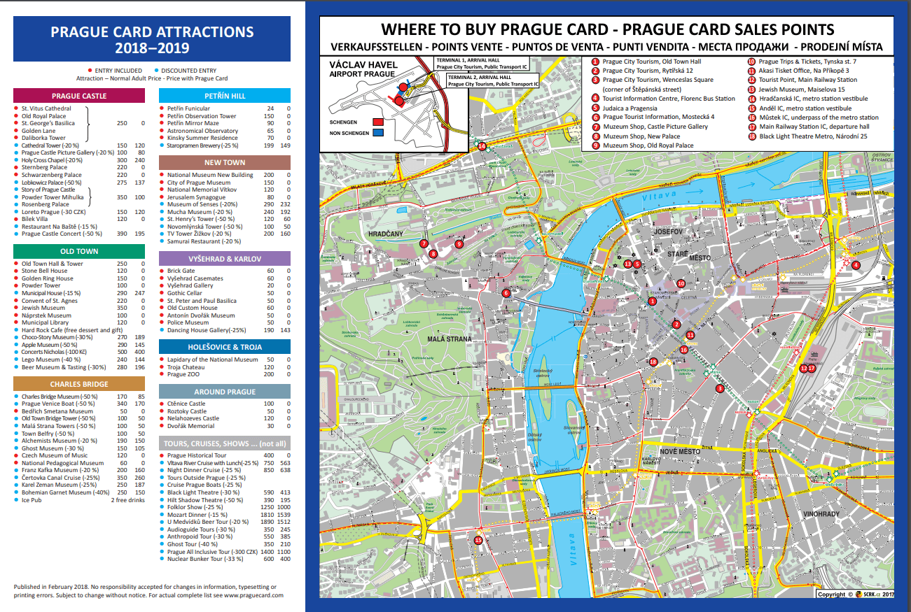 Ohhh prague card attractions comprises et points d'achat
