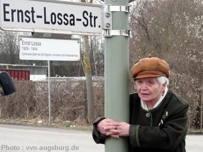 Augsbourg rue ernst lossa en présence d'amalie speidel lossa sa soeur en 2013