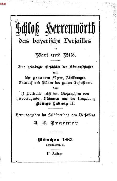 guide herrenchiemsee en 1887