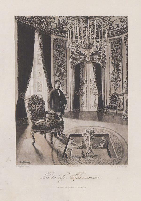 Breling Peinture de Louis II dans une salle de Linderhof
