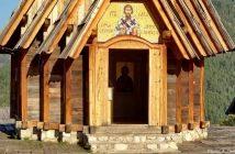 Drvengrad entrée église sveti Sava II