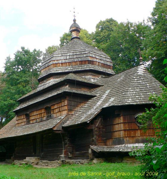 pologne Sanok église de bois