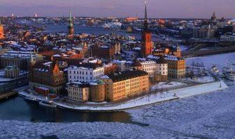 riddarholmen vieille ville de stockholm en hiver