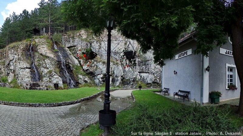 Ligne de chemin de fer Sargan 8 : station relais Jatare en serbie