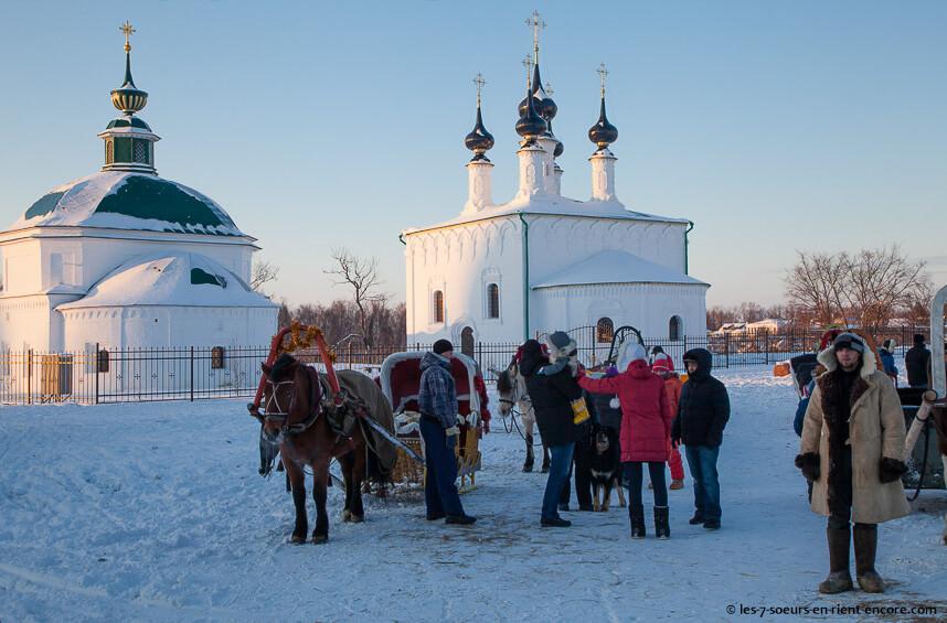 Souzdal traineaux et magie hiver russe au nouvel an
