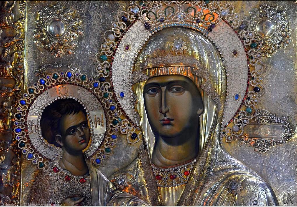 Belgrade Icone de la vierge et de Jésus
