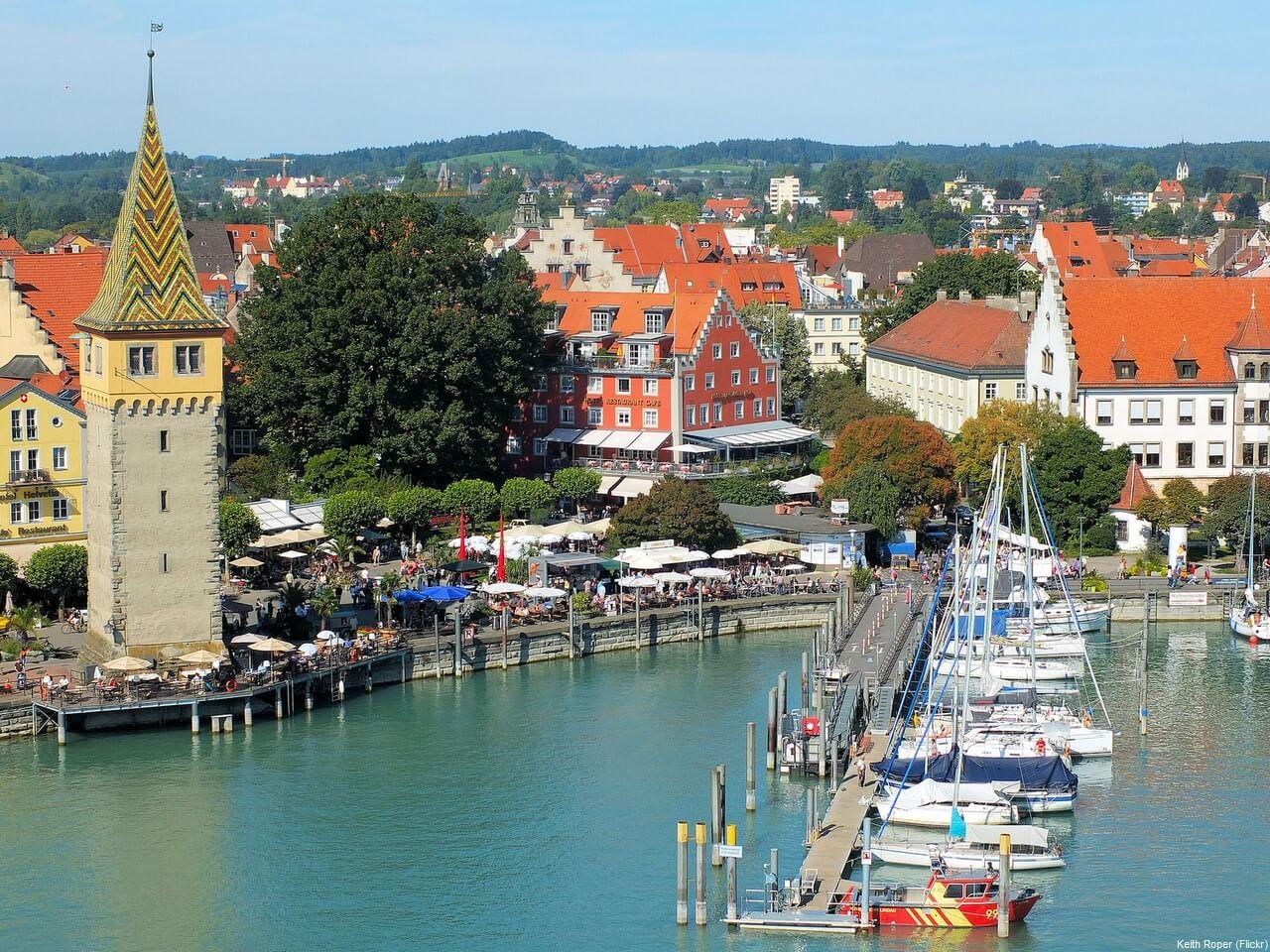 Centre historique de Lindau depuis le Port