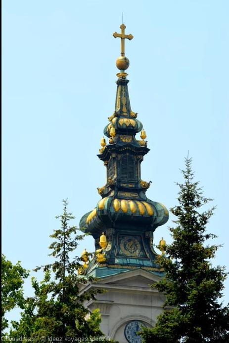 Clocher de la cathédrale orthodoxe de Saborna