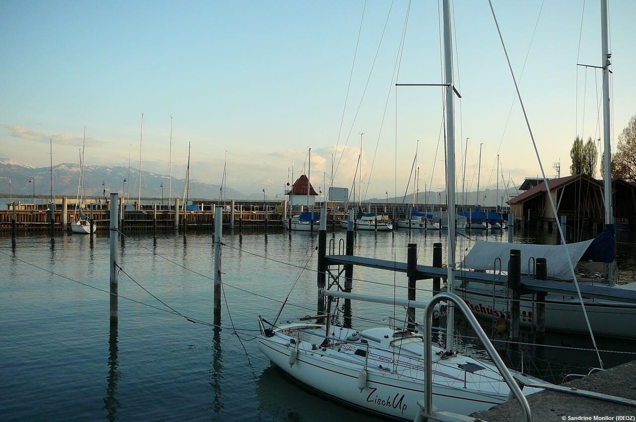 Coucher du soleil à Lindau sur le Bodensee