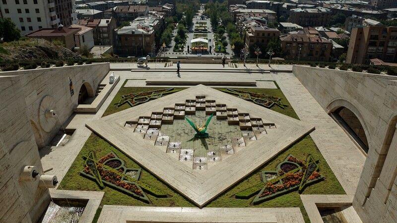 Erevan fontaine et espace vert