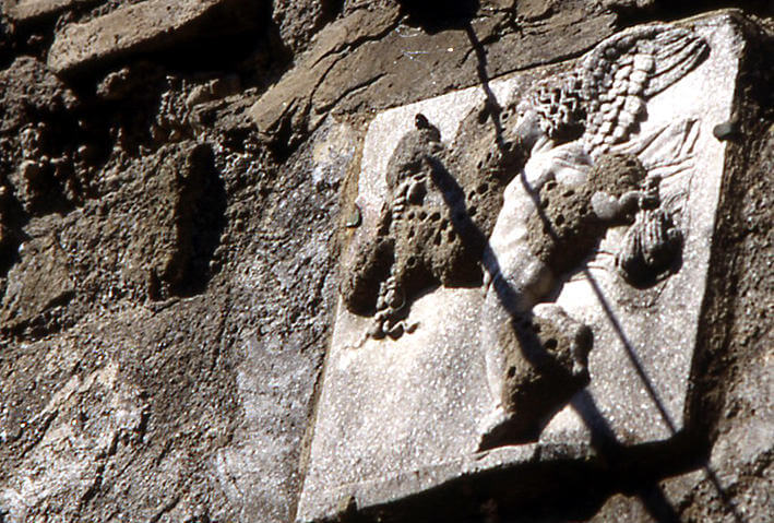 Herculanum Maison du génie ganymede et aigle